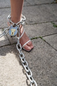 woman-foot-chains