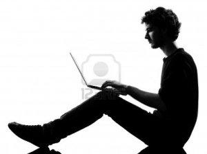 silhouette-computer