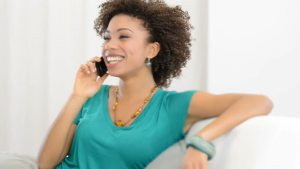 black-woman-phone-laughing